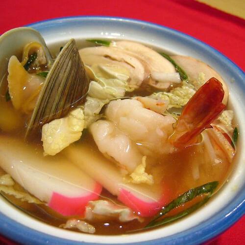 鲜香的腊味海鲜汤