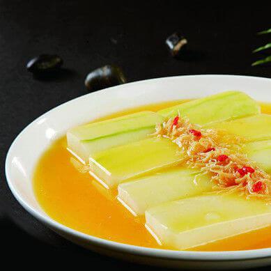 虾仁火腿炒白瓜
