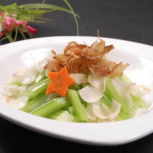 芥菜炒卤鱿鱼片