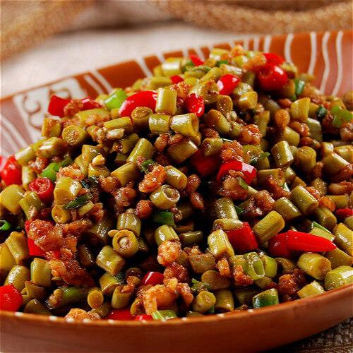肉末炒酸豇豆