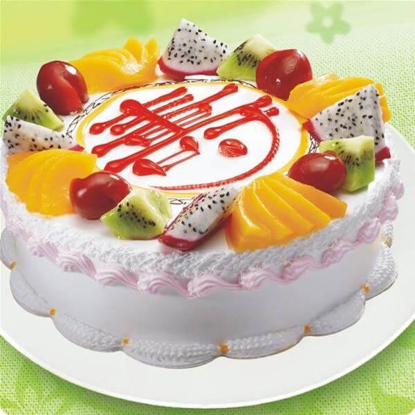 众桃捧寿蛋糕