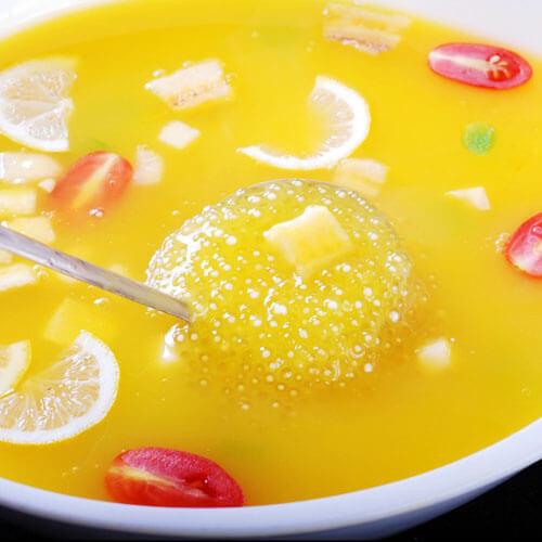 椰汁西米汤圆