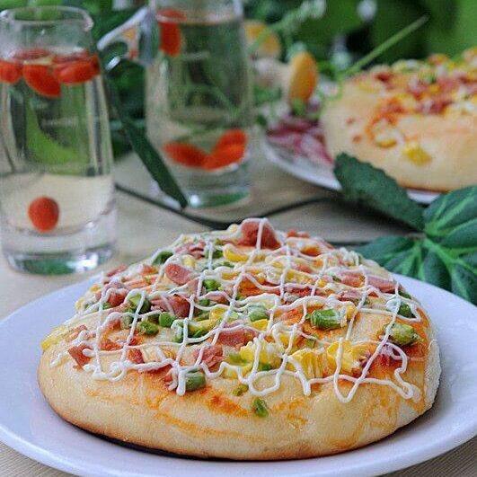 自制玉米青豆沙拉包