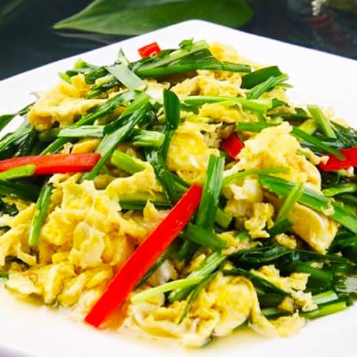 韭菜鸡蛋牡蛎煎