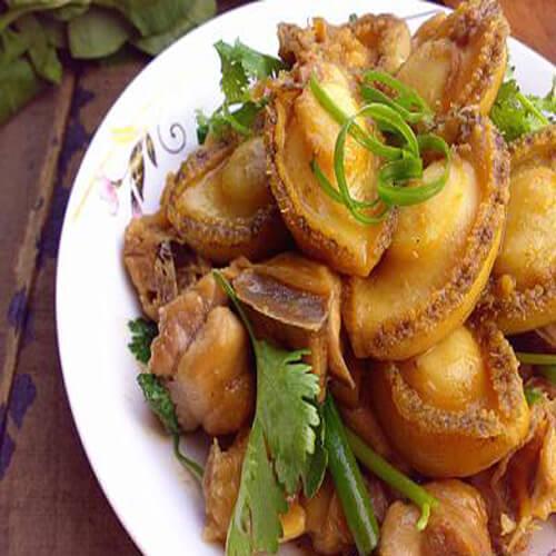 自制鲜鲍鱼焖鸡肉