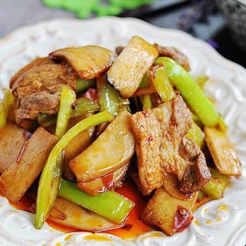 杂菇炒肉丝