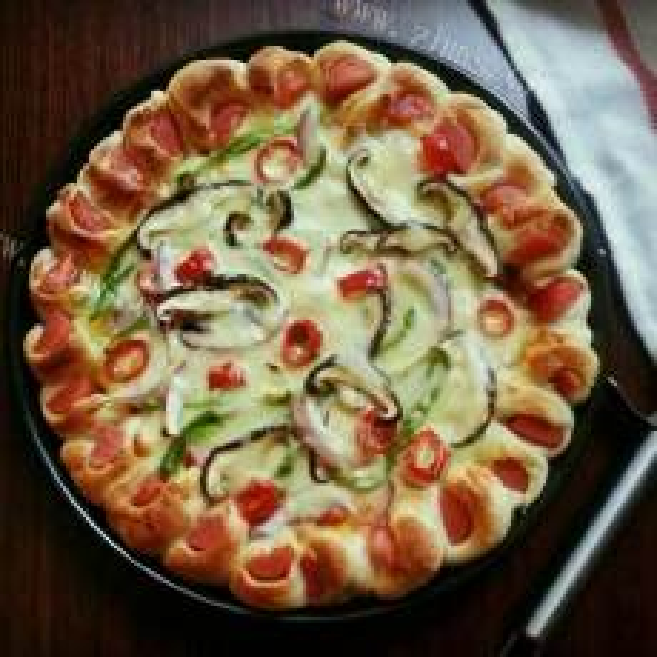 美味的玛格丽塔披萨