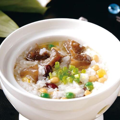 海参鸡丝小米粥