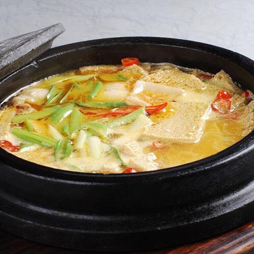 冻豆腐肓蟹煲