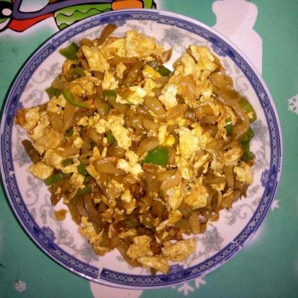 冬笋丝炒鸡蛋