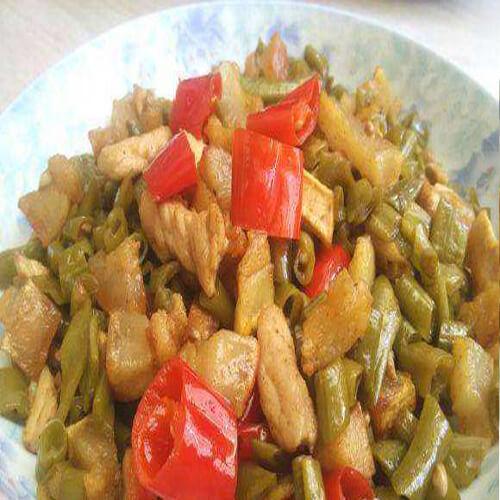 健康猪油渣炒葫芦