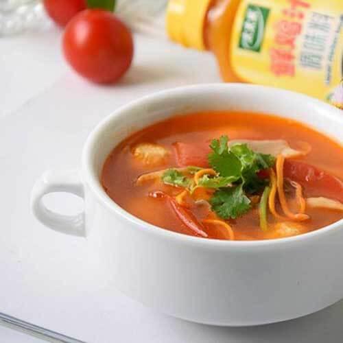 番茄木耳肉丸子汤