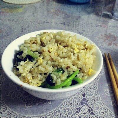 美味小青菜蛋炒饭