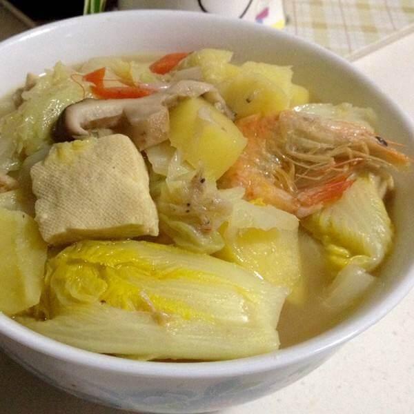 白菜土豆冻豆腐