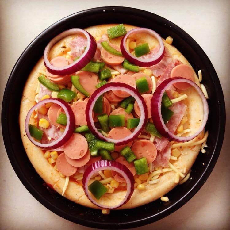 简易版-鸡肉虾仁披萨