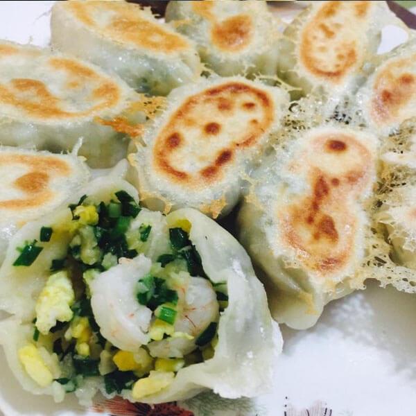 青椒鸡蛋粉丝煎饺