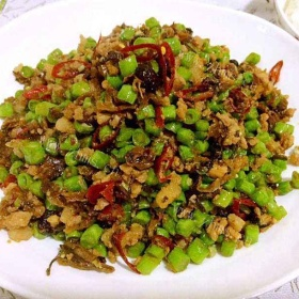 下饭豇豆炒芽菜