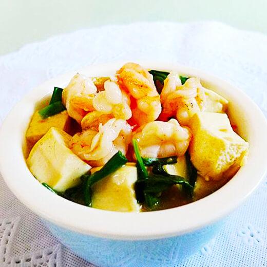 最爱的虾仁煮豆腐