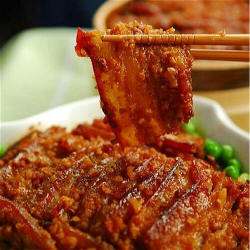 棕香糯米蒸肉