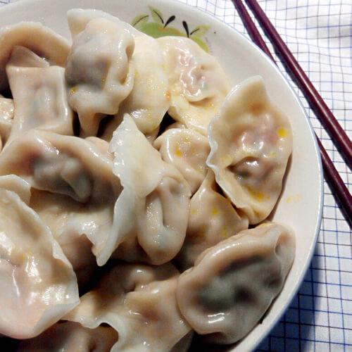 茴香虾皮猪肉饺子