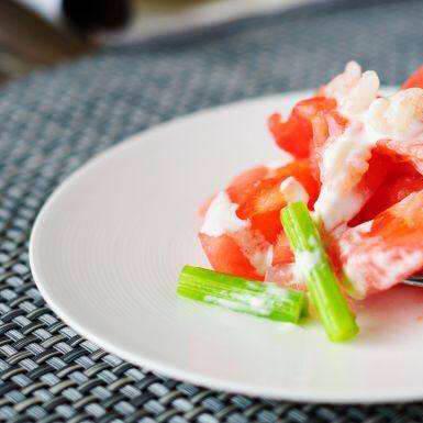 虾仁西红柿沙拉