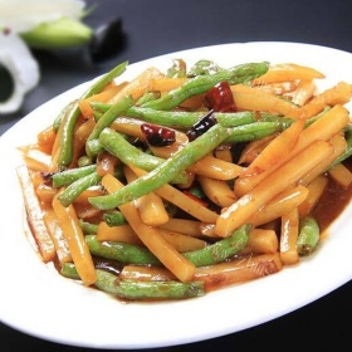 干炒土豆豇豆