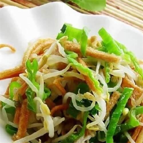 简单版尖椒炒芽米