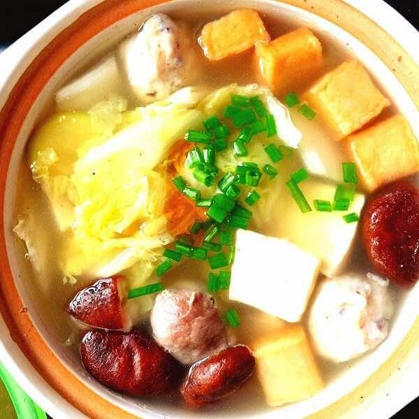 水萝卜粉丝豆腐