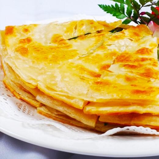 香酥葱香奶油千层饼