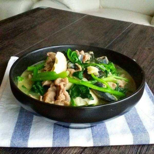 咸蛋瘦肉茴香汤