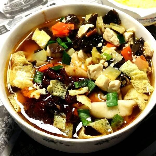 土豆丁臊子汤