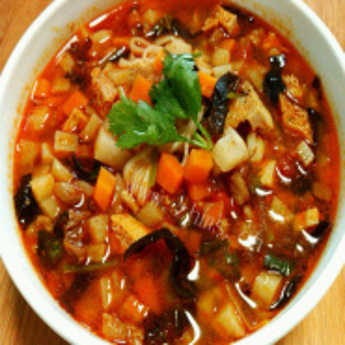 简易版-土豆丁臊子汤