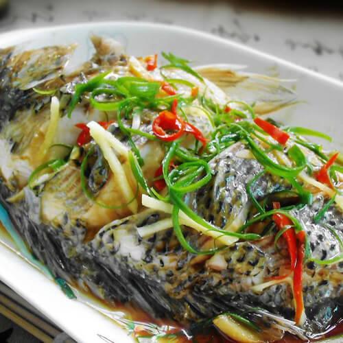 鼓汁豆腐蒸草鱼