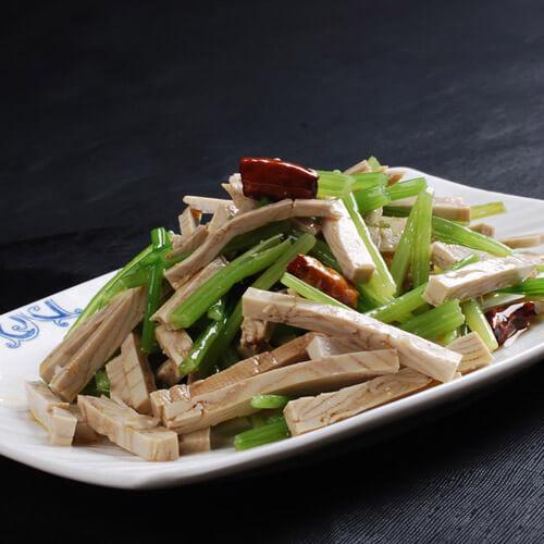 韭菜开洋炒香干