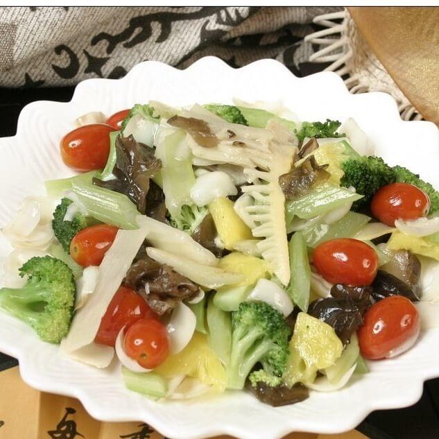 什锦菜炒豆腐