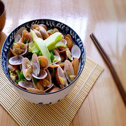 素香青椒炒花蛤