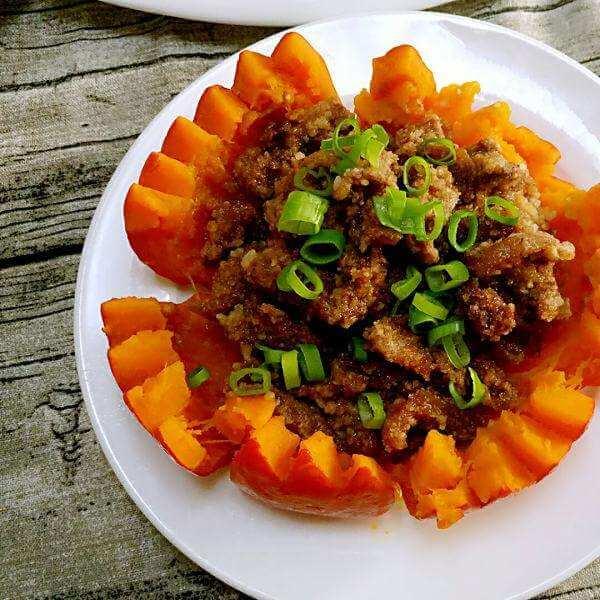 好吃的豆豉排骨蒸南瓜