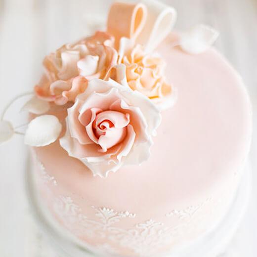 玫瑰情人节蛋糕