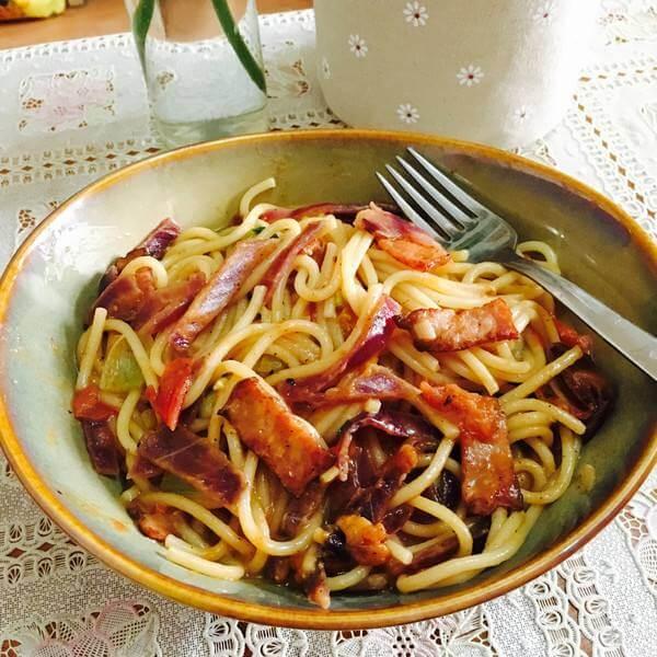 美味的番茄煮意粉