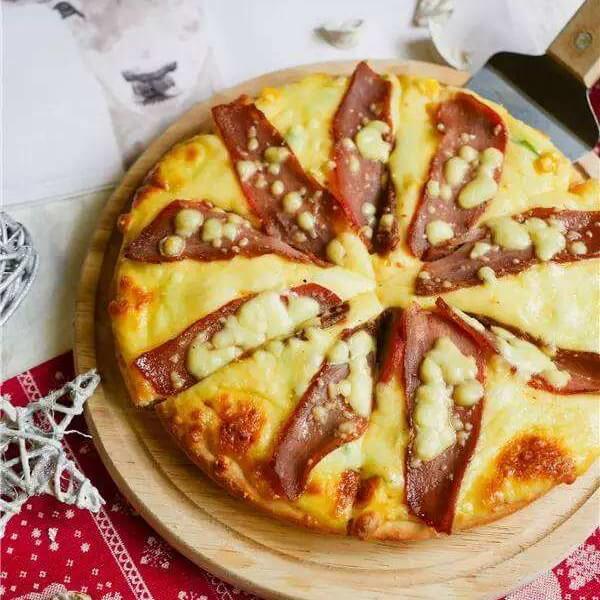 好吃的叉烧披萨