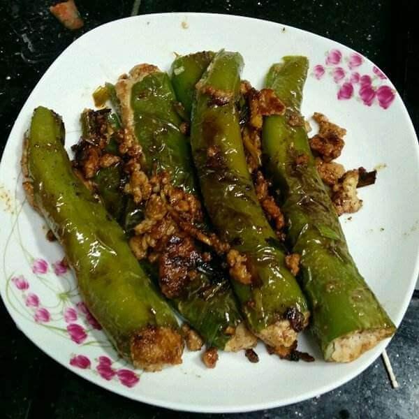 虎皮辣椒片淀粉肉