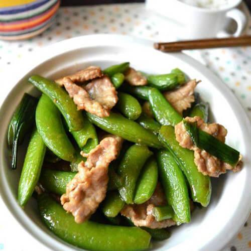 甜豆炒肉片