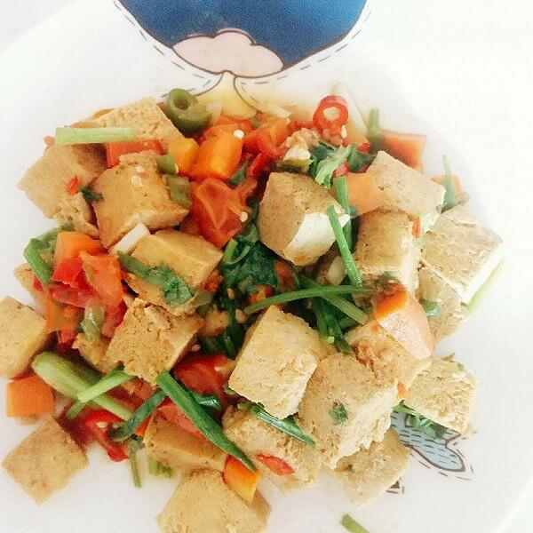 五花肉冻豆腐