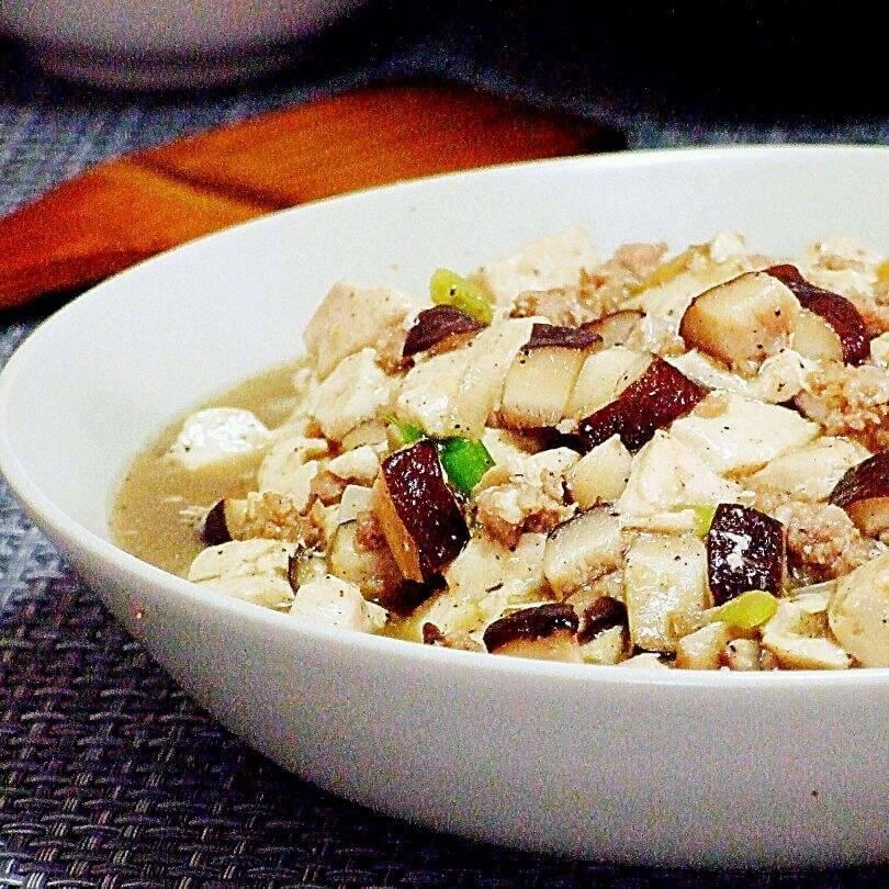 香菇肉酱炖豆腐