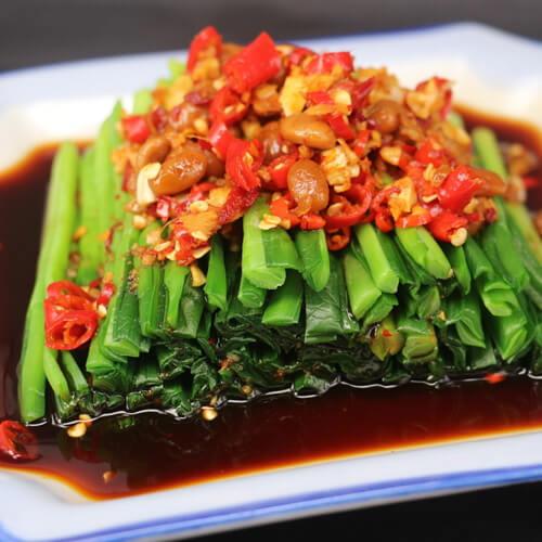 凉拌野韭菜花