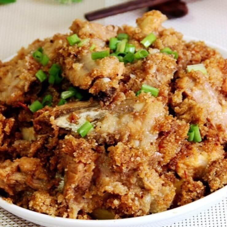 很好吃的土豆粉蒸鸡