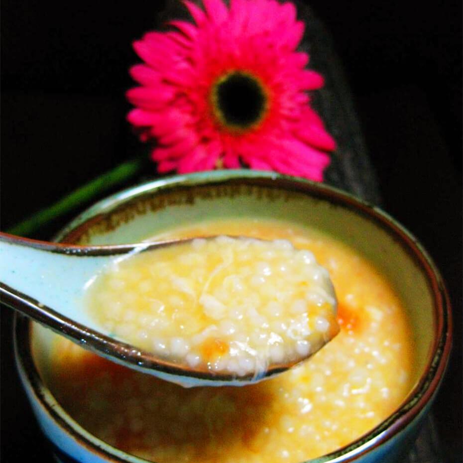 小米蔬菜疙瘩汤