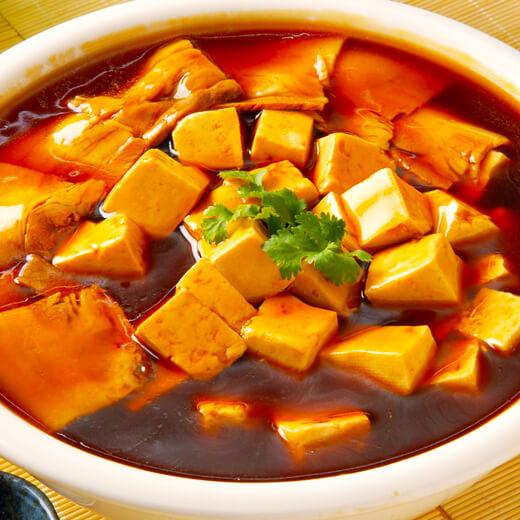 色香味浓的石榴红炖豆腐(咸菜)