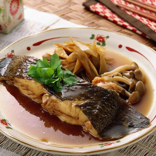美味的海鲜酱烧鳊鱼
