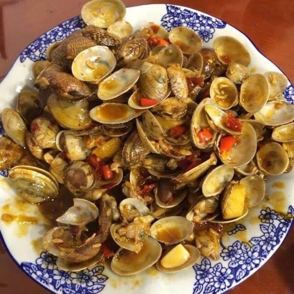 美味的爆香花蛤